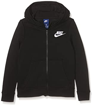 Nike G NSW Hoodie FZ Club GFX Sudadera, niñas, Negro (Black/White), XS: Amazon.es: Deportes y aire libre