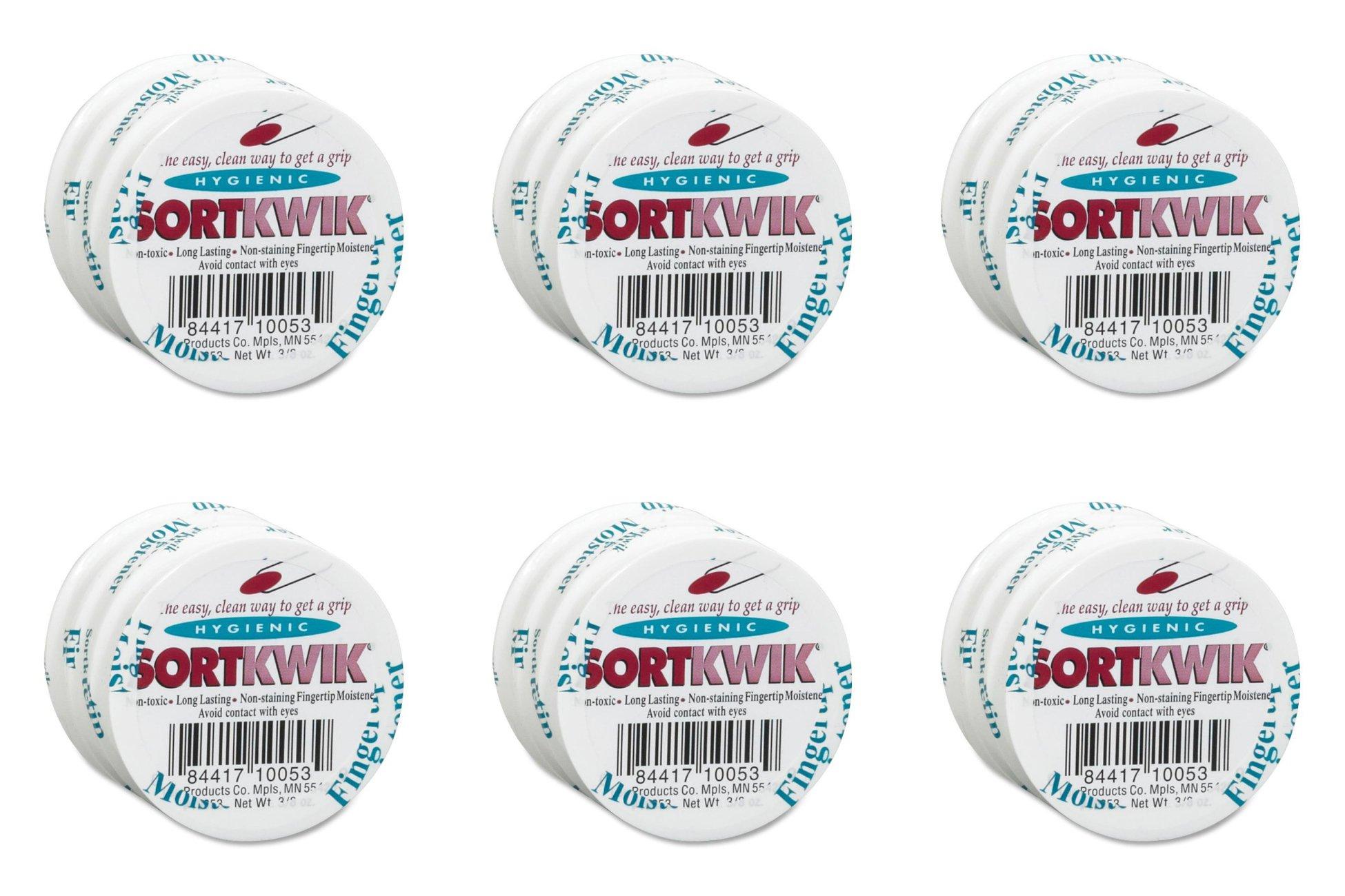 Lee Sortkwik Fingertip Moistener, 3/8 oz, 6 Sets of 3 Packs