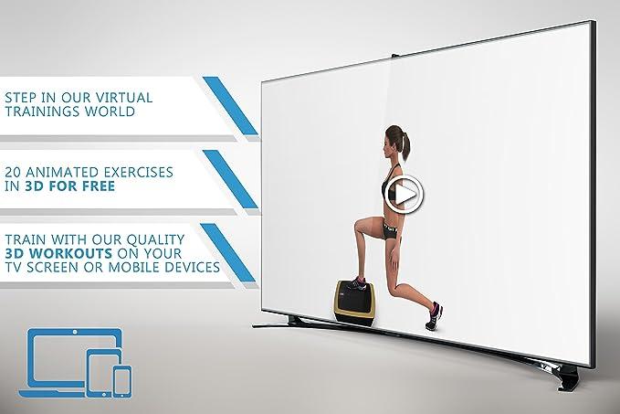 POWRX Basic Duo Plataforma vibratoria, incluye entrenamiento ...