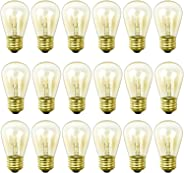 Newhouse Lighting S14INC18 S14INC6-3 Outdoor Weatherproof S14 Incandescent Replacement String Light Bulbs | Standard Base |