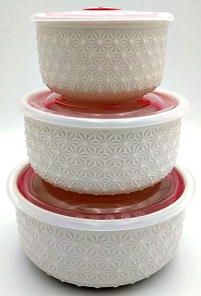 Buy Smart Dinning Ceramic Serving Bowl Set Of 3 Pc Microwave Safe