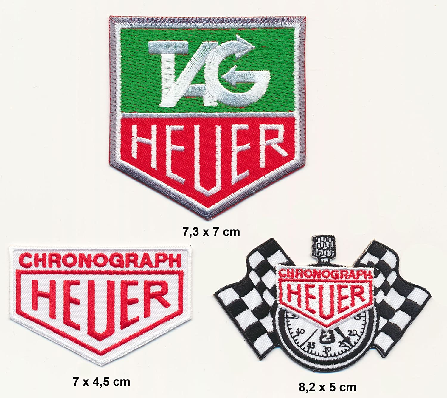 Heuer Chronograph Patch Aufn/äher B/ügelbild Motorsport Racing Team Blue