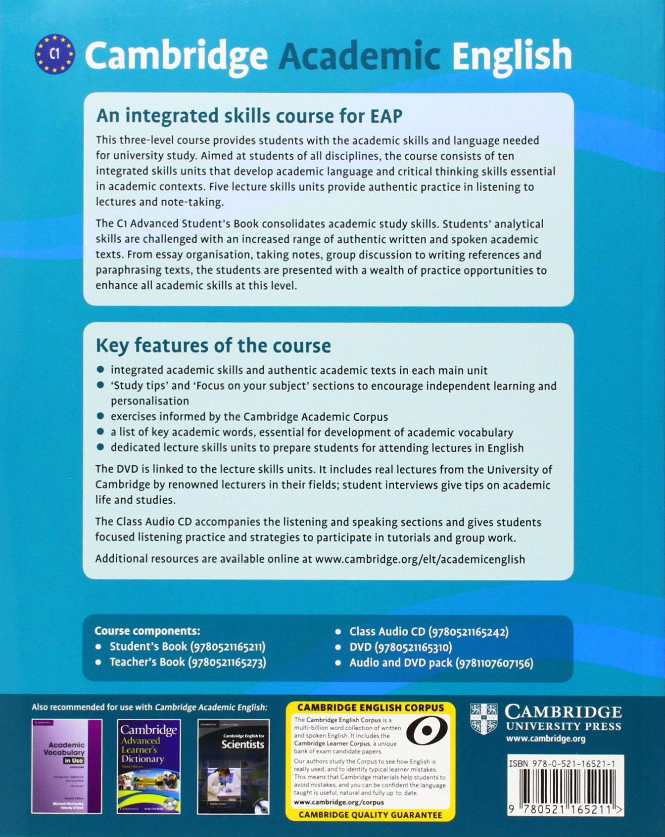 Cambridge Academic English C1 Advanced Students Book Pdf