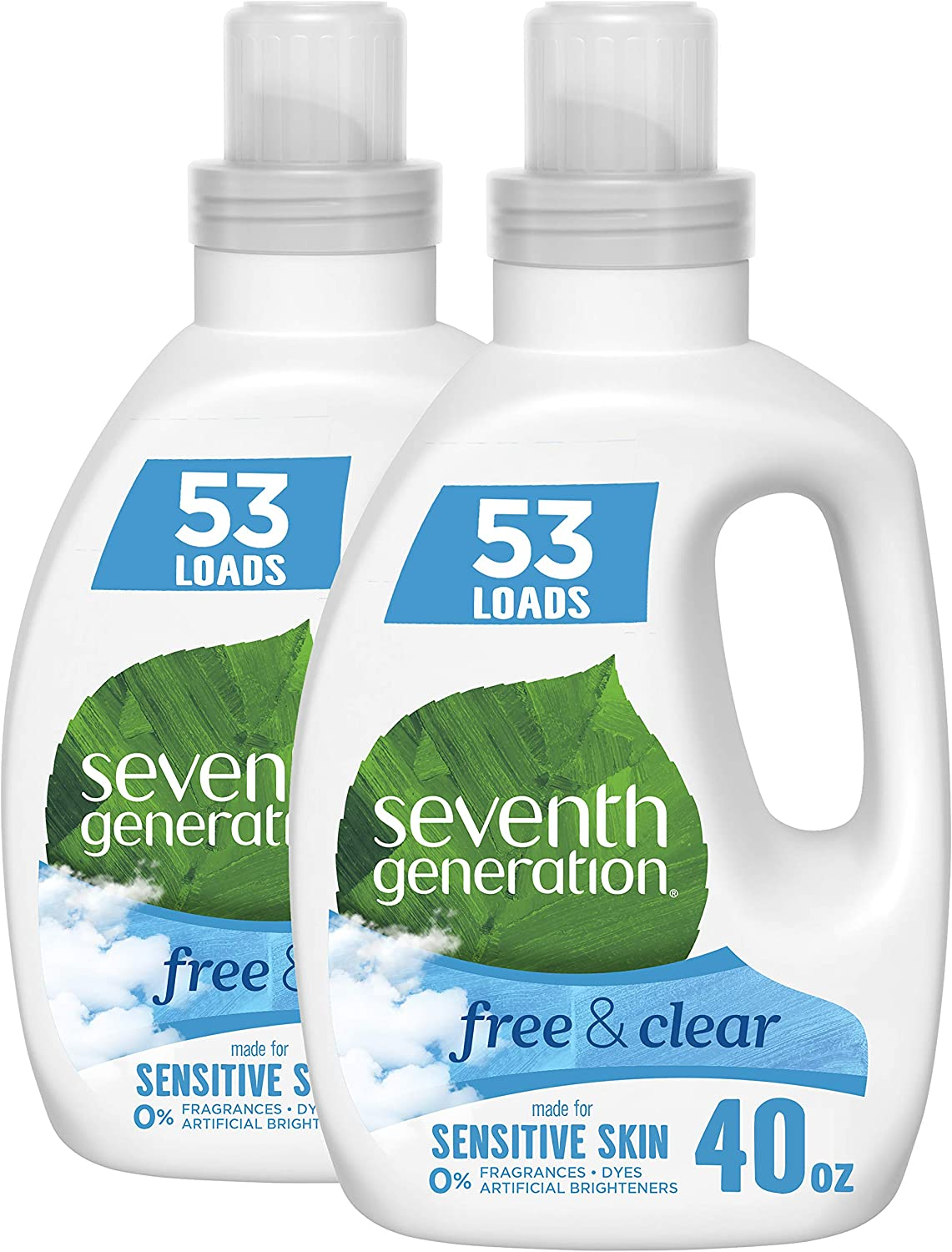 Seventh Generation Concentrated Laundry Detergent, Free & Clear Unscented, 40 oz, Pack of 2 (106 Loads): Health & Personal Care