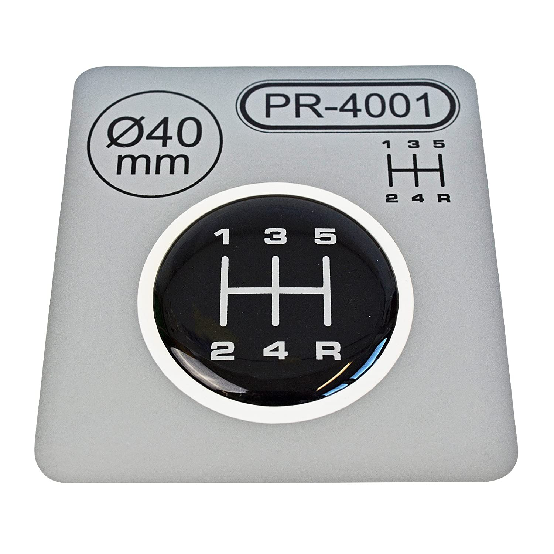 1/x palanca de cambios Di/ámetro = 40/Mm 5/marchas Pomo para Emblem silicona Pegatinas Esquema 1