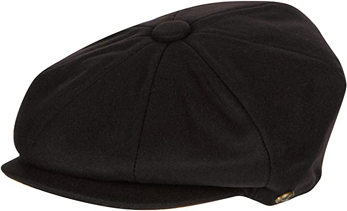78cc19e8be032 Sakkas NSB1595 Vintage Style Wool Blend Newsboy Snap Brim Cap - Brown - M at  Amazon Men s Clothing store