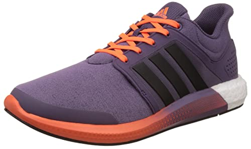 buy online fb24c c69d5 Adidas Womens Solar Boost W Purple, Black and Orange Mesh Sport Running  Shoes - 8