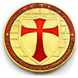 Commemorative Knights Templar Cross Masonic Mason Gold Coin - The Masonic Exchange