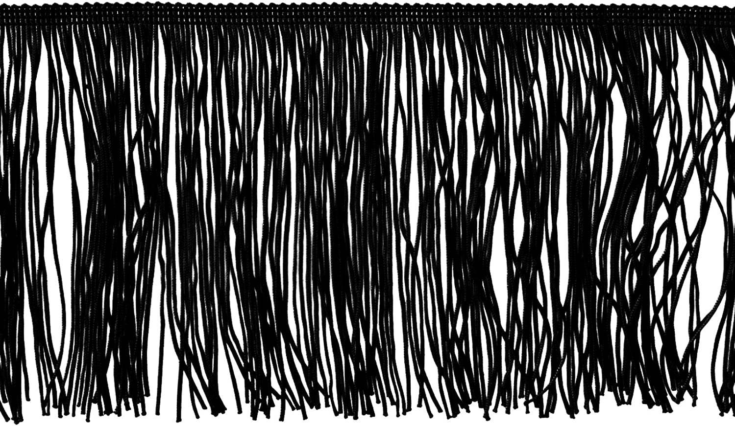 Expo International 6in Chainette Fringe Trim Black Fabric By The Yard