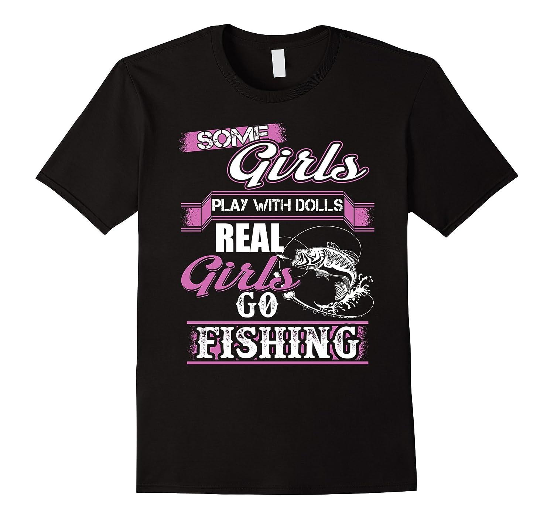 Fishing shirt real girls go fishing art artvinatee for Girls fishing shirts