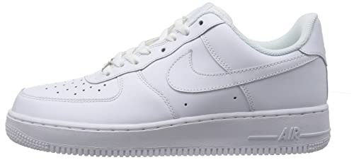 Amazon.com | Nike Mens Air Force 1 Low White/White Leather Casual Shoes 16  M US | Basketball