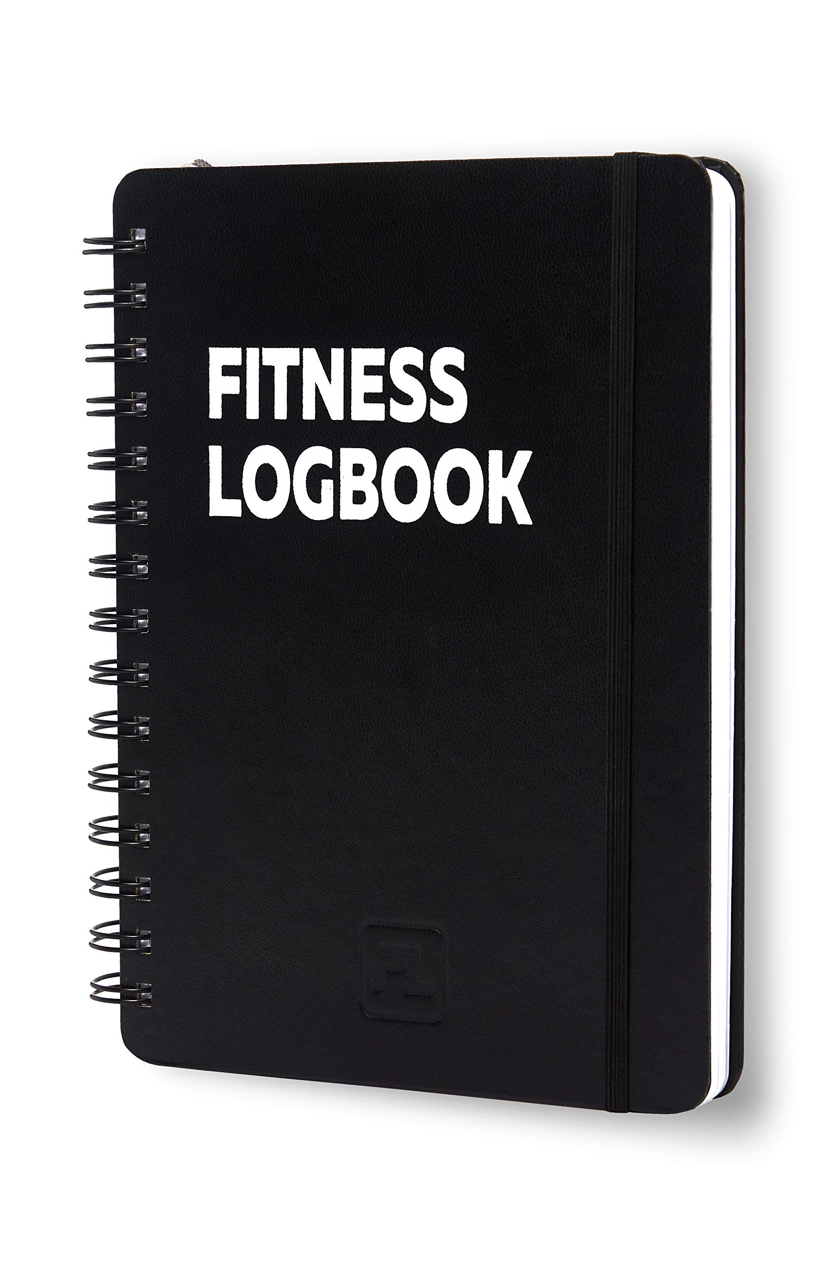 Fitness Logbook: Undated Workout Journal - 6 x 8 inches - 150 Workouts - Thick Paper, Hard Cover, Elastic Closure, Round Corners, Sturdy Binding - Stylish, Minimalistic and Easy-to-Use Gym Log Book