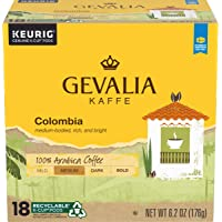 Amazon Price History:Gevalia Colombia Blend Medium Roast K-Cup Coffee Pods, (18 Count (Pack of 4))