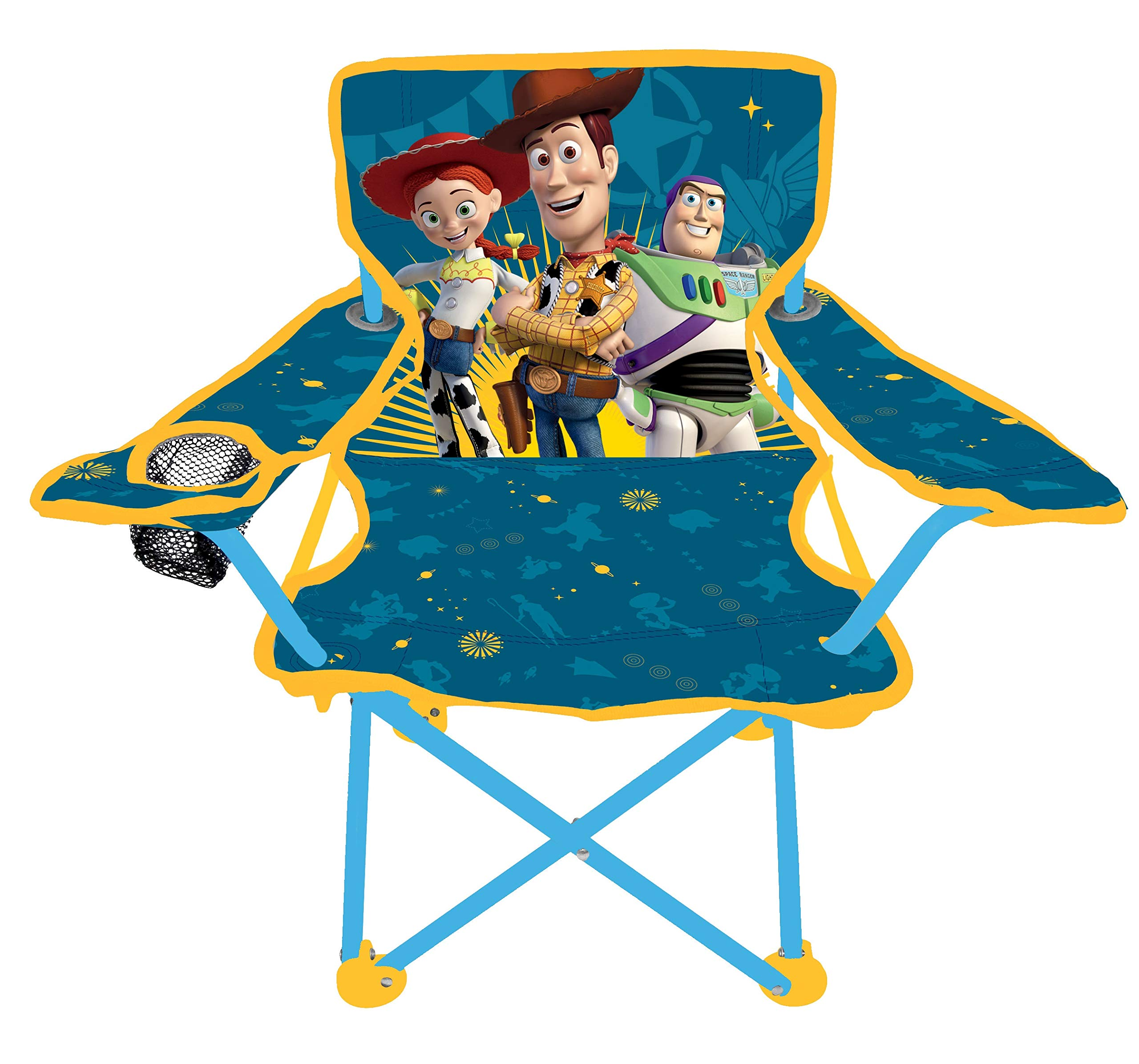 Jakks Pacific Toy Story 4 Camp Chair for Kids, Portable Camping Fold N Go Chair with Carry Bag