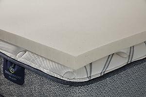 Serta CopperGel Memory Foam Mattress Topper, Full, Copper