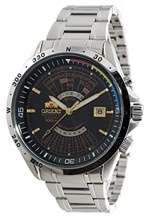 954085a68 Amazon.com: Orient Sports Automatic Multi-Year Calendar Black Dial Watch  EU03002B: Watches