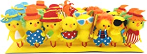 Bstaofy Easter Chenille Chicks Set Realistic Entertainment Chickens Spring Home Garden Decorations Festival Gifts Pack of 24, 2 inches