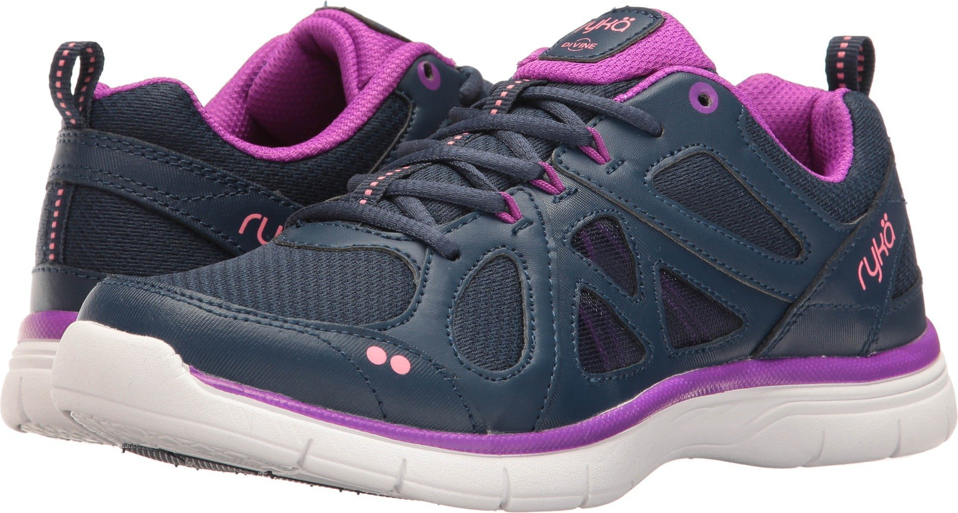 Ryka Women's Divine Training Shoe,Insignia Blue/Vivid Berry/Calypso Coral,US 7.5