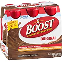 Boost Original Complete Nutritional Drink Rich Chocolate , 6 PK (Pack of 4)