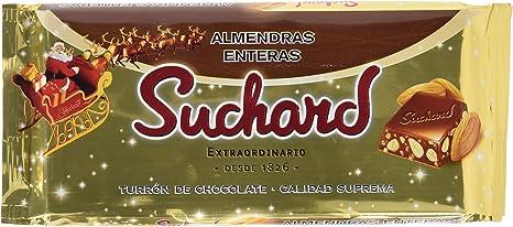 Suchard Turrón de Chocolate Leche con Almendras enteras y Arroz Inflado - 260 g: Amazon.es: Alimentación y bebidas