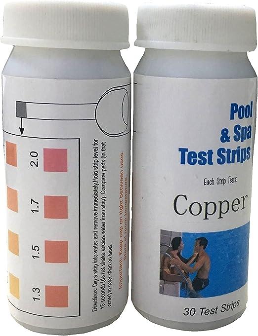 mananasun cobre tiras de prueba Kit para solar piscina purificador ...