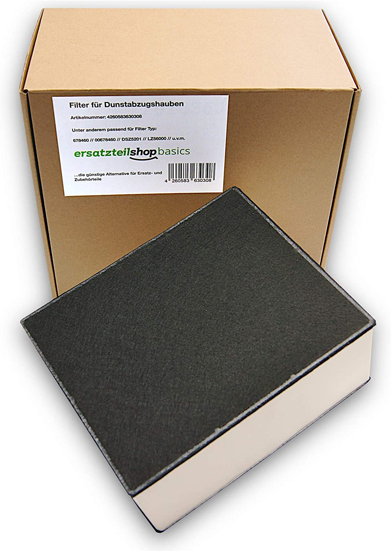 Ersatzteilshop basics Premium - Filtro de carbón activo para campana extractora Siemens, Bosch, Neff, Gaggenau, compatible con 678460/00678460/LZ56200/DSZ5220/Z5170X1, etc.