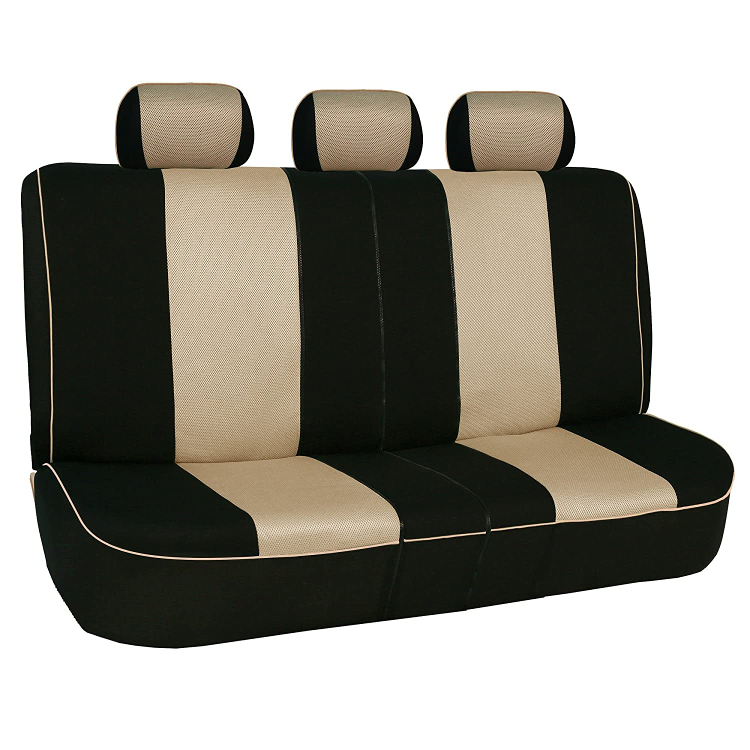 Truck Suv or Van Fit Most Car Airbag compatible and Split Bench FH GROUP FH-FB063115 Full Set Sports Fabric Car Seat Covers Solid Black