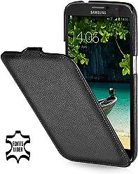 StilGut - Custodia esclusiva in pelle ultra sottile per Samsung Galaxy Mega 6.3 i9200 Mega LTE i9205 i9208, Nero