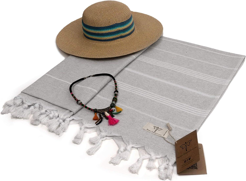 Gym and Bathroom 37 x 71 Inches Peshtemal and Turkish Bath Towel for SPA Black Prewashed Smyrna Original Turkish Beach Towel Cotton Pool Beach