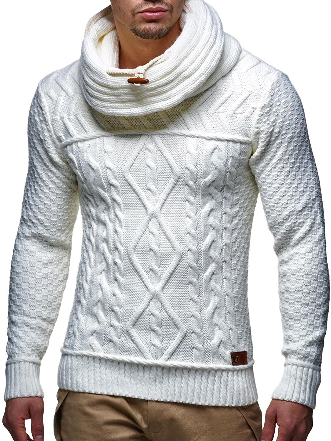 Knit GIORGIO white - thick winter