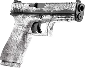 GunSkins Pistol Skin - Premium Vinyl Gun Wrap with Precut Pieces - Easy to Install and Fits Any Handgun - 100% Waterproof Non-Reflective Matte Finish - Made in USA
