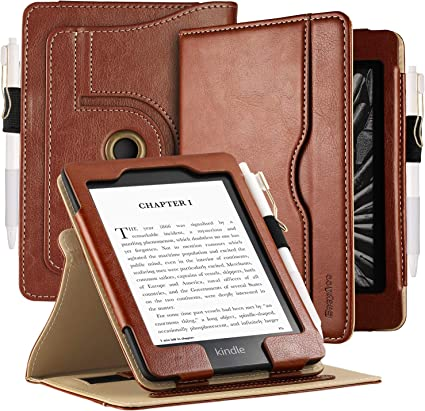 EasyAcc Funda para Kindle Paperwhite 10.ª generación 360 Grados Rotación Carcasa Smart Cover PU Protector Soporte Función Auto-Sueño/Estela para Kindle Paperwhite 10.ª generación, 2018: Amazon.es: Electrónica