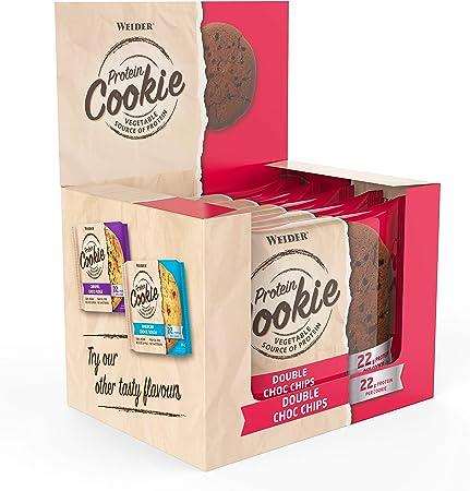 Weider Protein Cookies Double Choco Chip 12 x 90g. Galleta ...
