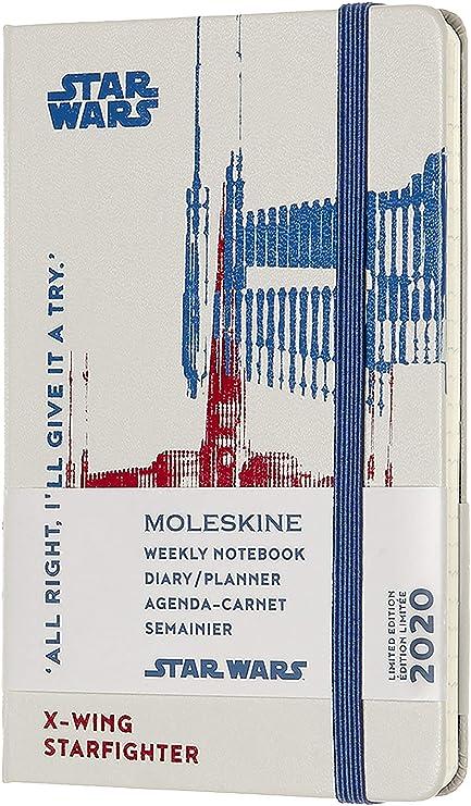 Moleskine - Agenda Semanal 12 Meses 2020 Star Wars Edición Especial Star Hunt X,Wing con Tapa Dura y Cierre Elástico, Tamaño de Bolsillo 9 x 14 cm, ...