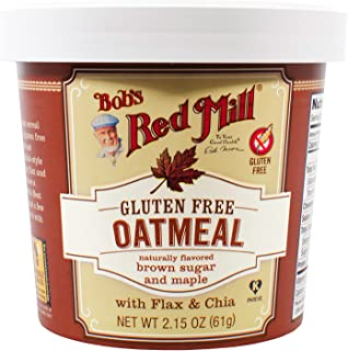product image for Bob's Red Mill Gluten Free Oatmeal Cup, Brown Sugar & Maple, 2.15-Ounce (Pack of 12)