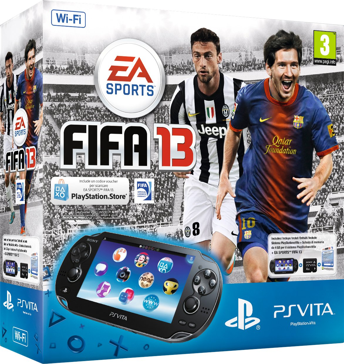 PS Vita Wifi + Fifa 13 Voucher + 4gb Rm [Importación italiana ...