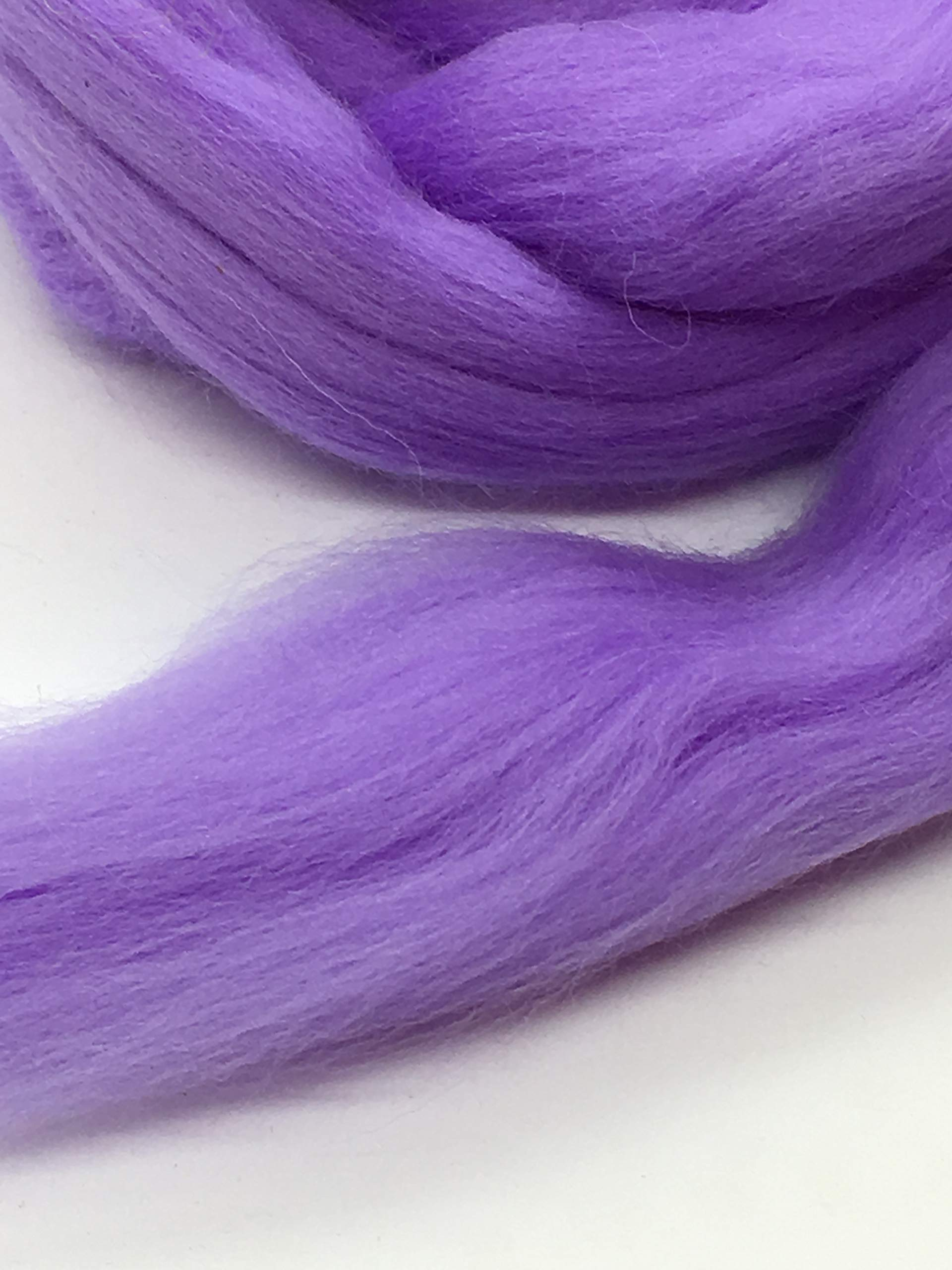 Periwinkle Merino Wool Top Roving Fiber Spinning, Felting Crafts USA (4 pounds) by Shep's Wool (Image #4)