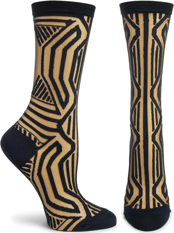 Ozone Womens Patterned Sock OSFM black