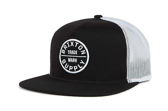 2d047602850a97 Amazon.com: Brixton Men's Oath III MESH Cap, Black, O/S: Clothing