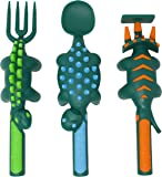 Constructive Eating Dinosaur Utensil Set for Toddlers, Infants, Babies and Kids - Flatware Toys are Made in The USA with…