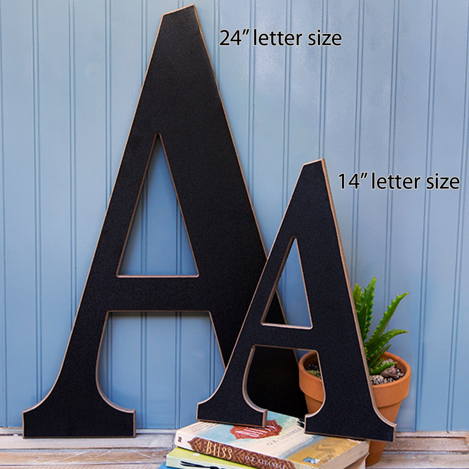 The Lucky Clover Trading ''B'' Wood Chalkboard Letter - 14''