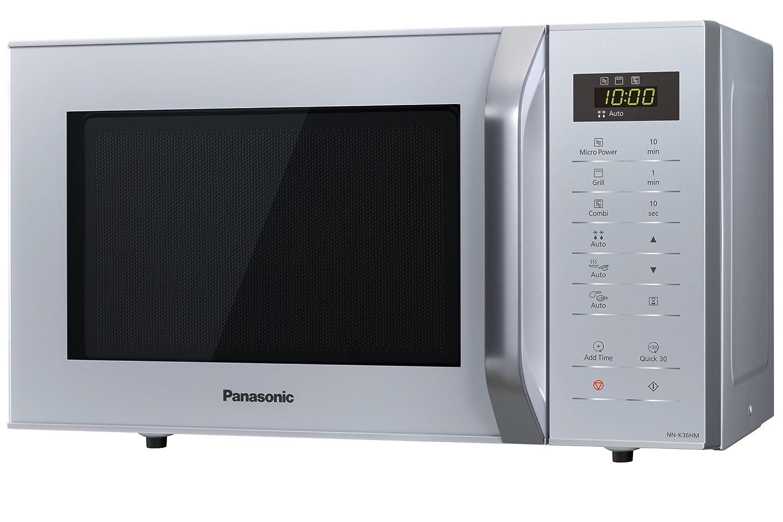 Panasonic NN-K36HMMEPG - Horno microondas, 23 l, 800 W, 5 niveles de potencia, 11 modos automáticos, panel táctil, color plata: Amazon.es: Hogar