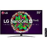 "Smart TV LG 55"" 4K IPS NanoCell WiFi Bluetooth HDR Inteligencia Artificial ThinQAI Google Assistente Alexa IOT - NANO81"