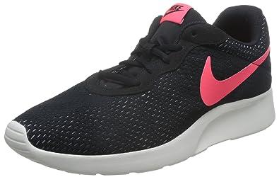 Nike Men's Tanjun SE Black/Solar/Red/Pure/Platinum Running Shoe 6