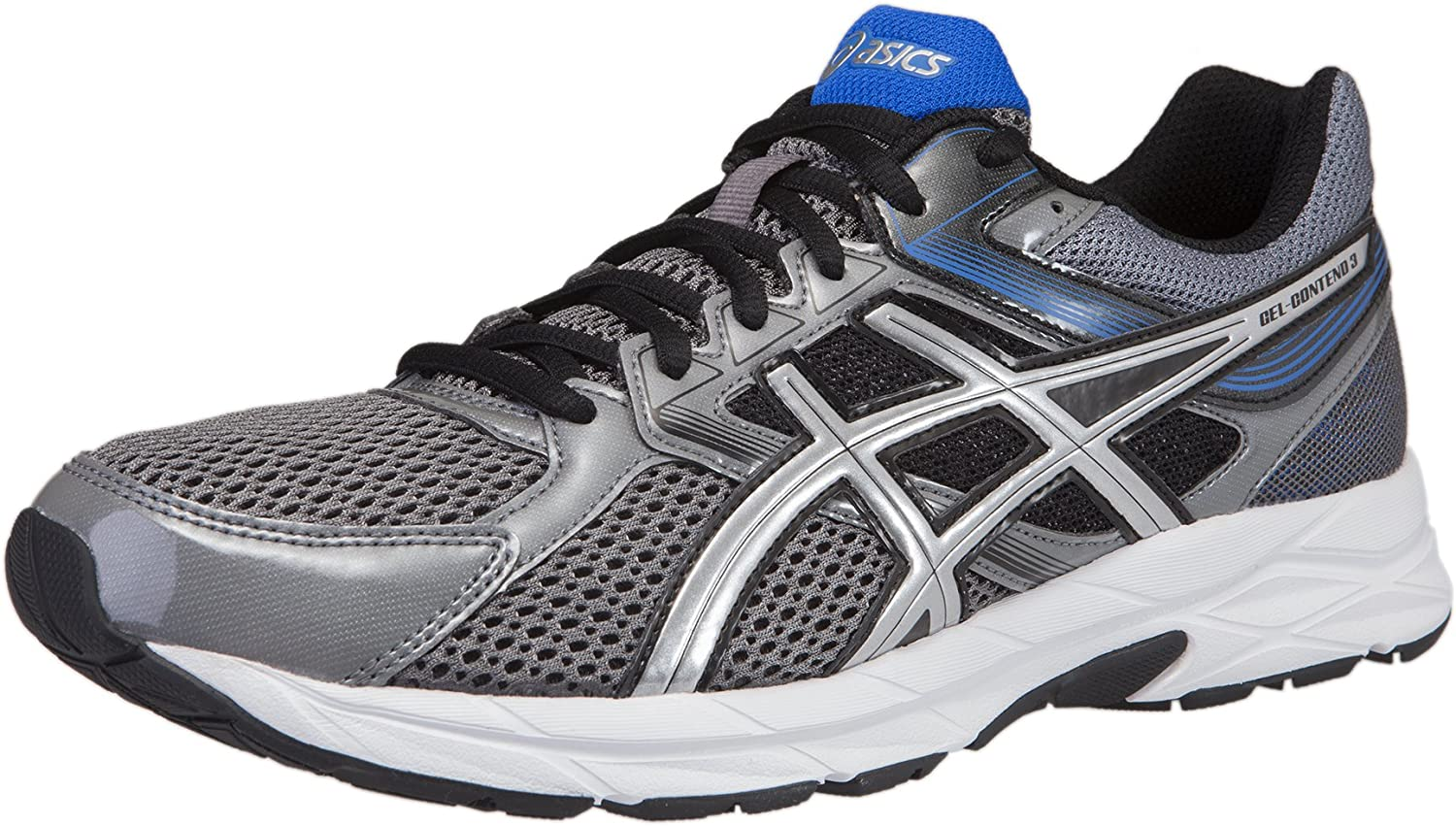 ASICS Men s Gel-Contend 3 Running Shoe 10.5 D M US, Charcoal Silver Turkish Sea