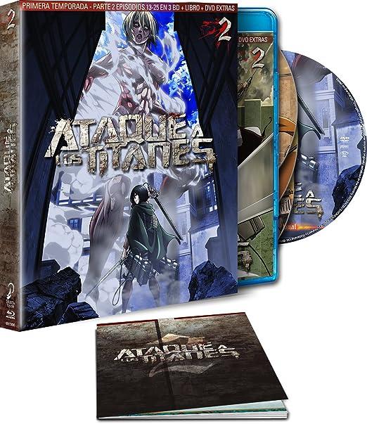 Ataque A Los Titanes. Temporada 1 Parte 2. Blu-Ray - Edición Coleccionista Blu-ray: Amazon.es: Animación, Tetsuro Araki, Animación: Cine y Series TV