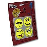 EPOSGEAR Minder Reflective High Visibility Hi-Viz Road Safety Reflector Sticker Packs - Smileys Emojis Paws Ghosts - Ideal for School Children, Walkers, Cyclists etc