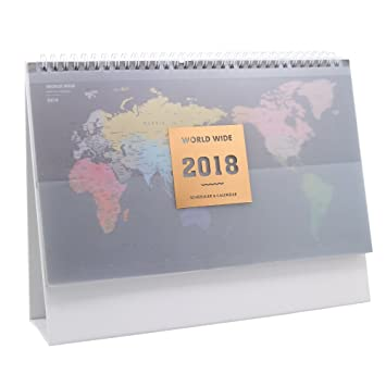 Amazon 2018 desk calendar multifunction flip monthly calendar 2018 desk calendar multifunction flip monthly calendar world map gumiabroncs Gallery