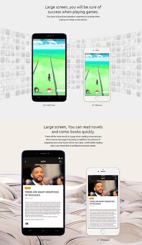 Cubot Max - Smartphone libre Android 6.0 (teléfono grande de 6.0 ...