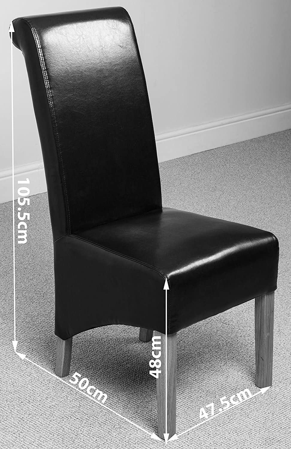 X2 Montana Scroll Back Leather Dining Chairs (Black): Amazon.co.uk: Kitchen  U0026 Home Part 68